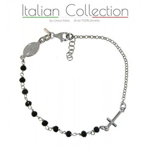 ItalianCollection Bracciale Rosario Argento 925% Made Italy
